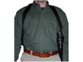 Uncle Mike&#39;s Sidekick Vertical Shoulder Holster Right Hand Single, Double Action Revolver 9.5&quot; to 10-.75&quot; Barrel Nylon Black