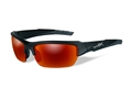 Wiley X Black Ops WX Valor Polarized Sunglasses Black 2 Tone Frame Crimson Mirror Lens