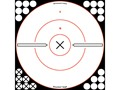 "Birchwood Casey Shoot-N-C White/Black 12"" X Bullseye Reactive Targets Package of 5"