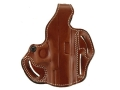 DeSantis Thumb Break Scabbard Belt Holster Right Hand Glock 17, 22, 31 Suede Lined Leather Tan