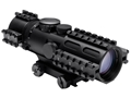 NcStar Tri-Rail Series Compact Rifle Scope 44mm Tube 3-9x 42mm Blue Illuminated P4 Sniper Reticle with Weaver Mount Black