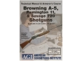 American Gunsmithing Institute (AGI) Technical Manual &amp; Armorer&#39;s Course Video &quot;Browning A-5, Remington 11, &amp; Savage 720 Shotguns&quot; DVD