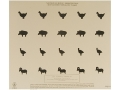 NRA Official Smallbore Rifle Training Target TQ-14 50' Chickens, Pigs, Turkeys, Rams Rifle Silhouette Paper Package of 100