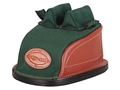 Edgewood Original Rear Shooting Rest Bag Tall with Short Ears and Regular Stitch Width Leather and Nylon Green Unfilled