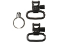 Uncle Mike&#39;s Quick Detachable Full Band Centerfire Sling Swivels 1&quot; Black