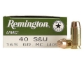 Remington UMC Ammunition 40 S&amp;W 165 Grain Full Metal Jacket