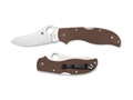 "Spyderco Stretch 2 Folding Hunting Knife 3.5"" Drop Point ZDP-189 Blade G-10 Handle Brown"