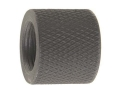 "Product detail of Schuster Thread Protector Cap AR-15 1/2""-28 Thread .750"" Outside Diameter .660"" Length Knurled Steel Matte"