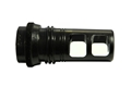 "Advanced Armament Co (AAC) Blackout Muzzle Brake 90-Tooth Ratchet Taper Suppressor Mount 7.62mm AR-10, LR-308 5/8""-24 Thread Steel Matte"