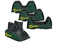 Caldwell Universal Front Rest Bag Set 4 Bags Green Nylon Unfilled