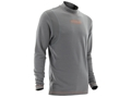 NOMAD Men's Sapwood Base Layer Shirt Long Sleeve Merino Wool Charcoal Grey