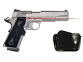 Crimson Trace Lasergrips 1911 Government, Commander Front Activation Polymer Black with Gould & Goodrich Holster