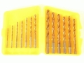 Wisdom 13 Piece Drill Bit Set Titanium Nitride (TiN) Coated