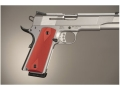 Hogue Extreme Series Grips 1911 Government, Commander Ambidextrous Safety Cut Checkered Aluminum Matte