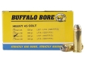 Buffalo Bore Ammunition 45 Colt (Long Colt) +P 260 Grain Jacketed Hollow Point