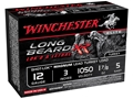"Winchester Long Beard XR Turkey Ammunition 12 Gauge 3"" 1-7/8 oz #5 Copper Plated Shot"