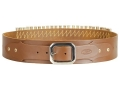 Hunter Adjustable Cartridge Belt 357, 38 Caliber Leather Tan