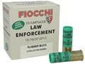 "Fiocchi Ammunition 12 Gauge 2-3/4"" 00 Rubber Buckshot 15 Pellets Box of 25"