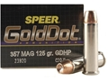 Speer Gold Dot Ammunition 357 Magnum 125 Grain Jacketed Hollow Point Box of 20