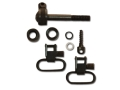 GrovTec Sling Swivel Studs with 1&quot; Locking Swivels Set Remington 760 and 7600 (Pre-1968) Steel Black