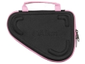 "Allen 6-1/2"" Molded Compact Pistol Case for 2"" Revolvers Foam Shell Black/Pink"