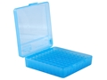 MTM Flip-Top Ammo Box 40 S&W, 10mm Auto, 45 ACP 100-Round Plastic Blue