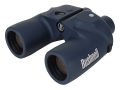 Bushnell Marine Binocular 7x 50mm Individual Focus Porro Prism with Rangefinder and Illuminated Compass Armored Black