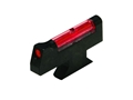 "HIVIZ Front Sight for S&W Revolver with Interchangeable Front Sight .250"" Height Steel Fiber Optic Red"