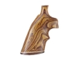 Hogue Fancy Hardwood Grips with Accent Stripe and Top Finger Groove Colt Python Cocobolo