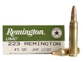Remington UMC Ammunition 223 Remington 45 Grain Jacketed Hollow Point