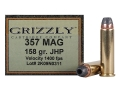 Product detail of Grizzly Ammunition 357 Magnum 158 Grain Jacketed Hollow Point Box of 20