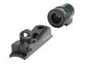 TRUGLO Muzzle Bright Xtreme Muzzleloader Universal Sight Set Fiber Optic Globe Front, Ghost Ring Rear Green