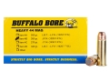 Product detail of Buffalo Bore Ammunition 44 Remington Magnum 300 Grain Jacketed Flat Nose