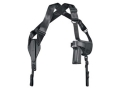 "Product detail of Uncle Mike's Cross-Harness Horizontal Shoulder Holster Ambidextrous Small Frame 5-Round Revolver with Hammer 2"" Barrel Nylon Black"
