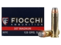 Product detail of Fiocchi Shooting Dynamics Ammunition 357 Magnum 125 Grain Semi-Jacketed Soft Point Box of 50