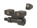 Meprolight Tru-Dot Adjustable Sight Set S&W K, L, N-Frame with Red Insert Front Sight Steel Blue Tritium Green