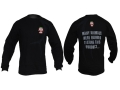 Primos Double Bull Men's T-Shirt Long Sleeve Cotton Black Large
