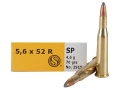 Sellier & Bellot Ammunition 5.6x52mm Rimmed (22 Savage High-Power) 70 Grain Soft Point Box of 20