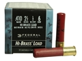 "Federal Game-Shok Hi-Brass Ammunition 410 Bore 2-1/2"" 1/2 oz #6 Shot Box of 25"