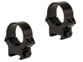 B-Square 30mm InterLock Weaver-Style Rings with Recoil Blade Matte Medium