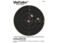 Champion VisiColor 8&quot; Bullseye Target 8.5&quot; x 11&quot; Paper Package of 10
