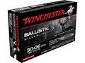 Winchester Supreme Ammunition 30-06 Springfield 168 Grain Ballistic Silvertip