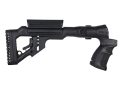 Mako Tactical Side Folding Buttstock with Adjustable Cheek Rest Mossberg 500, 590 Synthetic Black