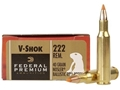 Product detail of Federal Premium V-Shok Ammunition 222 Remington 40 Grain Nosler Ballistic Tip Varmint Spitzer Box of 20