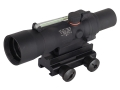 Trijicon ACOG TA33 BAC Rifle Scope 3x 30mm Dual-Illuminated Green Chevron 223 Remington Reticle with TA60 Flattop Mount Matte