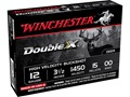 "Winchester Double X Magnum Ammunition 12 Gauge 3-1/2"" Buffered 00 Copper Plated Buckshot 15 Pellets Case of 250 (50 Boxes of 5)"