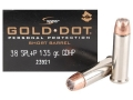 Speer Gold Dot Short Barrel Ammunition 38 Special +P 135 Grain Jacketed Hollow Point
