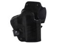 "Front Line LKC 3-Layer Belt Holster Right Hand Springfield XD 9/40 Service 4"" Suede Lined Leather and Kydex Black"