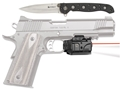 Crimson Trace Rail Master Pro Red Laser/White LED Light Combo Universal Rail Mount Polymer with CRKT Knife Black
