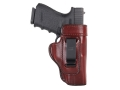 Don Hume H715-M Inside the Waistband Holster Right Hand Glock 19, 23, 32, 36 Leather Brown